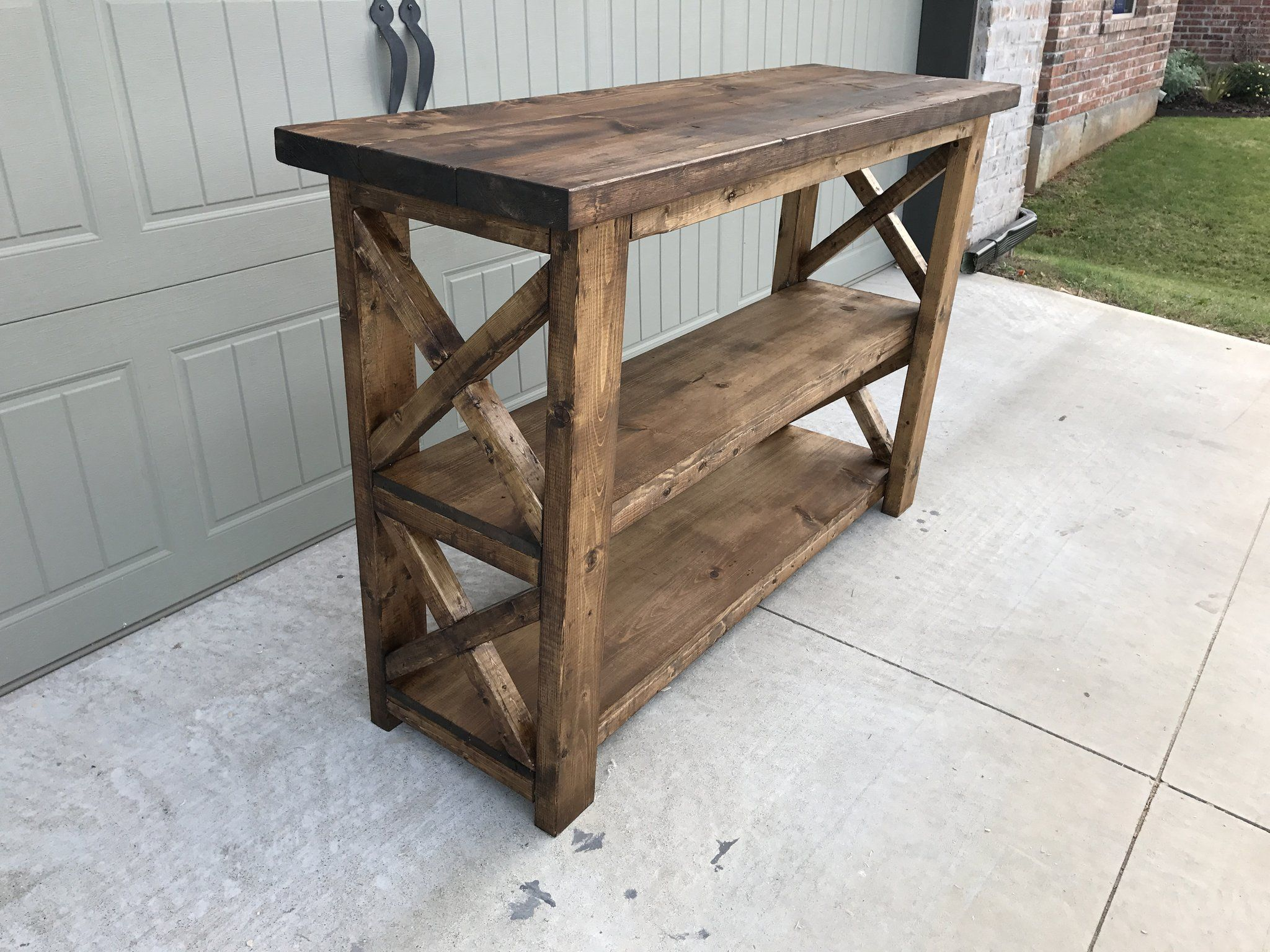 Another Console For The Books Lets Take A Look At My Build This One Is Definitely A Show Stopper Dimensions Ma Diy Console Table Wood Diy Diy Wood Projects
