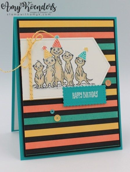 Stampin' Up! The Gang's All Meer Birthday Card