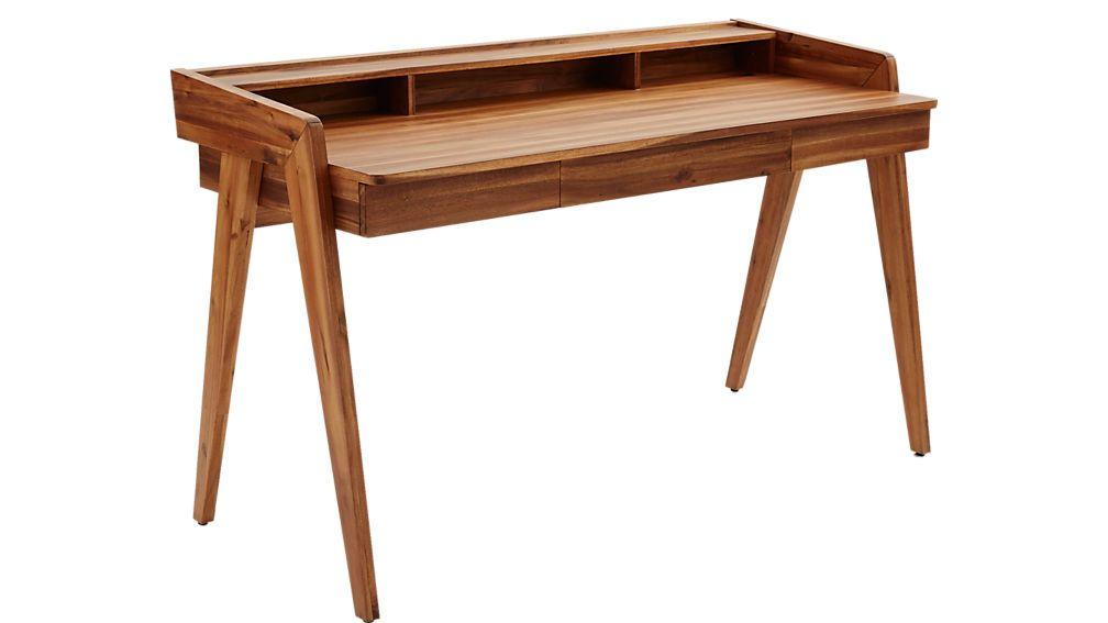 Drommen Desk Reviews Cb2 Wood Desk Design Desk Design Modern Desk