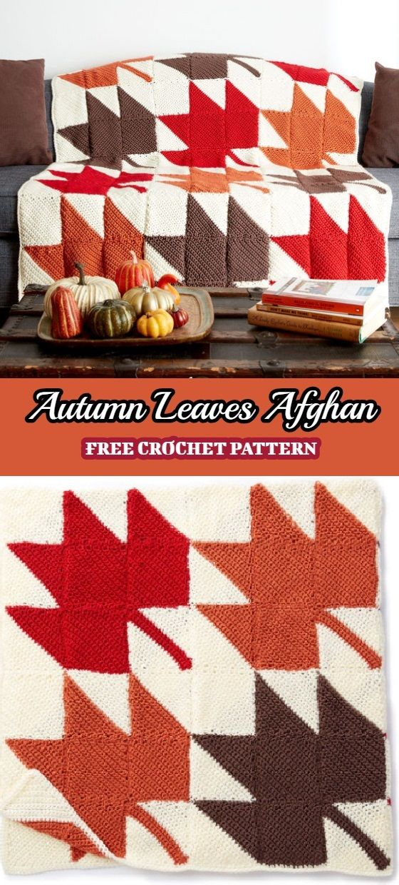 Autumn Leaves Afghan Free Crochet Pattern Afghan Crochet Patterns