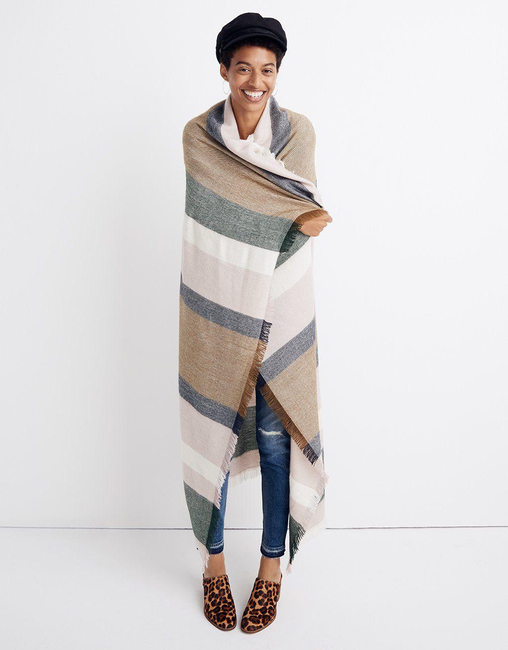madewell band stripe blanket scarf.  giftwell  4e7545ea7