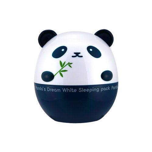 Panda's Dream White Sleeping Pack - 50g,TONY MOLY.  Mascarilla aclarante nocturna de uso semanal.  Contiene lavanda y romero, que ayuda a relajar y calmar la piel sensible, contiene sabia y extractos de bambú, que ayudan a hidratar la piel, contiene arándanos, frambuesas y moras, que ayudan a nutrir la piel.  Se aplica por la noche después de desmaquillarnos y se enjuaga con agua tibia por la mañana. Recomendado para todo tipo de piel.