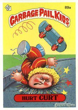 Lpb 089 Hurt Curt Garbage Pail Kids Pail Garbage Pail Kids Cards
