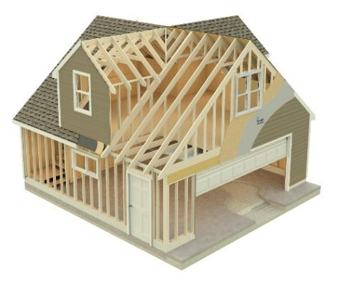 Attic Truss With Dormers Timber House Attic Truss Roof Styles