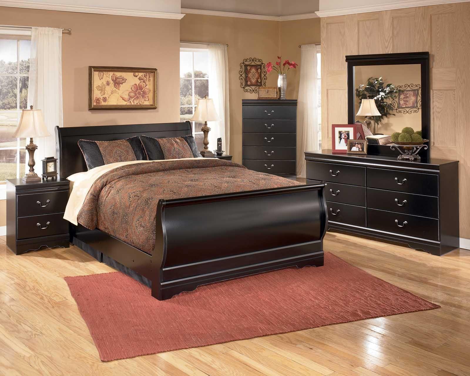 Huey vineyard piece sleigh bedroom set in black home u car ideas