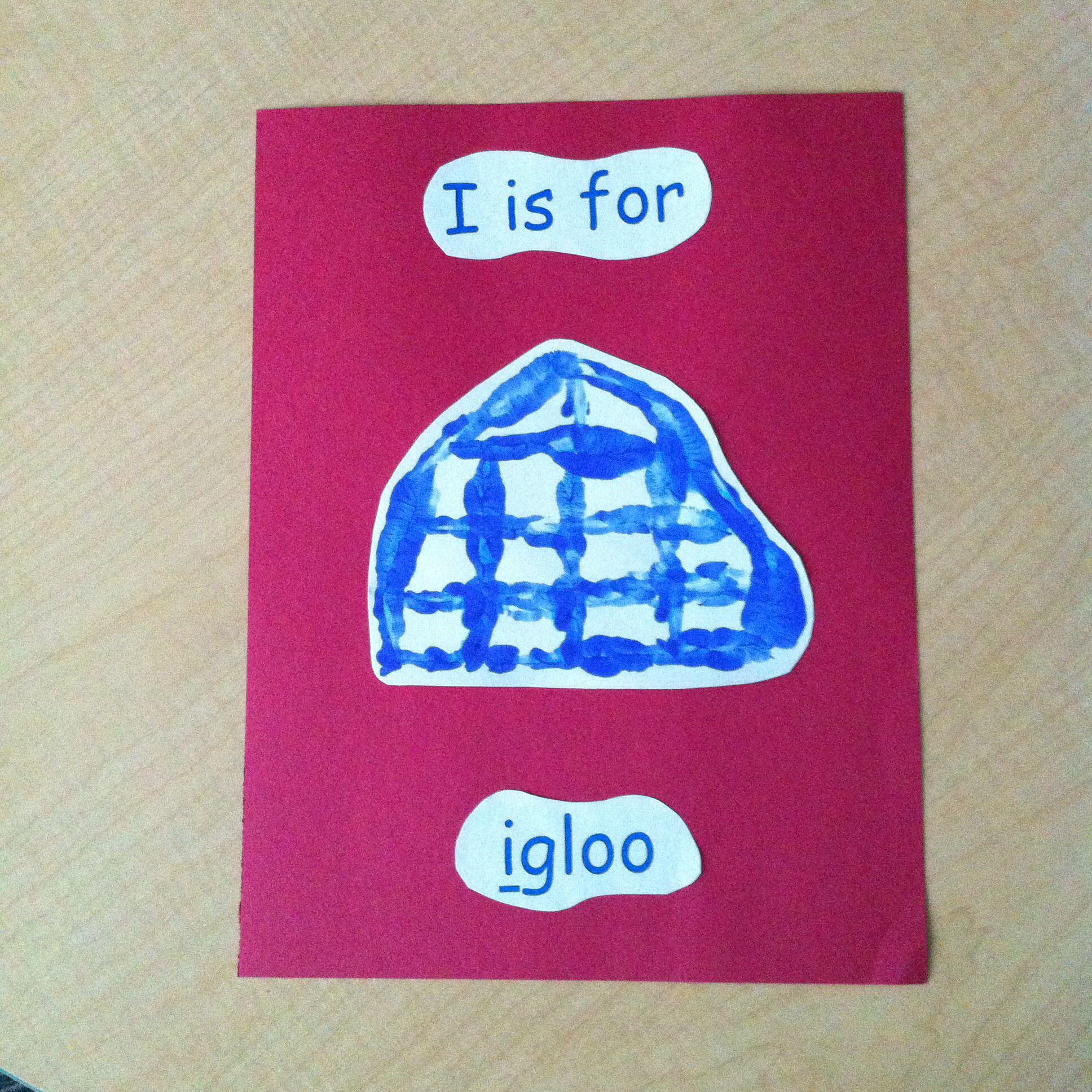 I Is For Igloo Handprint Pic