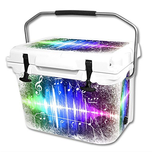 MightySkins Protective Vinyl Skin Decal Wrap for RTIC 20 qt Cooler cover sticker Music Man ** Click image for more details.