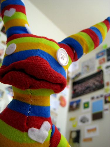 I was born from an old sock! I am quite attractive, isn't it?