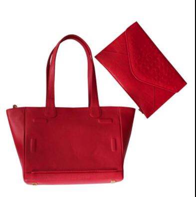 Only Designers Shop LLC - IVETTE RED TOTE-CLUTCH GENUINE LEATHER, $169.00 (http://onlydesignersshop.com/ivette-red-tote-clutch-genuine-leather/)