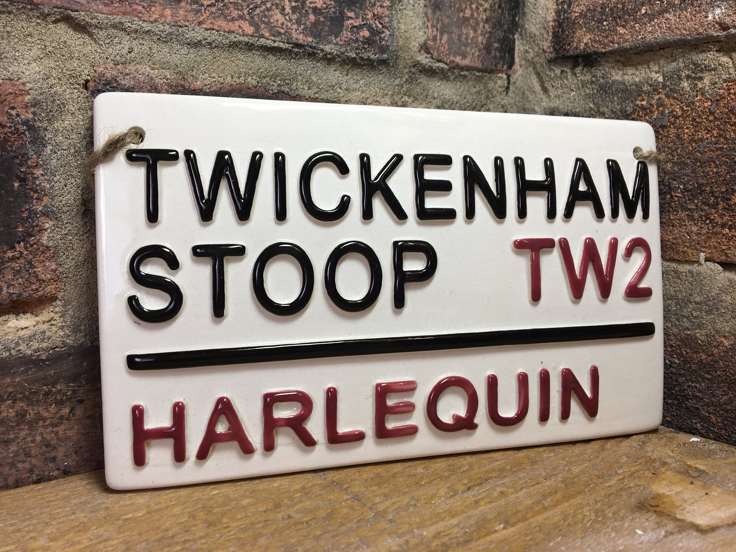 Harlequin Rugby Sign Twickenham Stoop Rugby Street Sign Rugby Gift Rugby Union Sports Plaque Fathers Day Gift England R Rugby Gifts Sports Plaque Football Wall