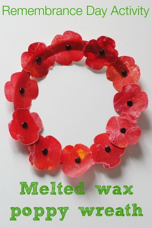 Melted Wax Poppy Craft A Remembrance Day Activity Kids Crafts