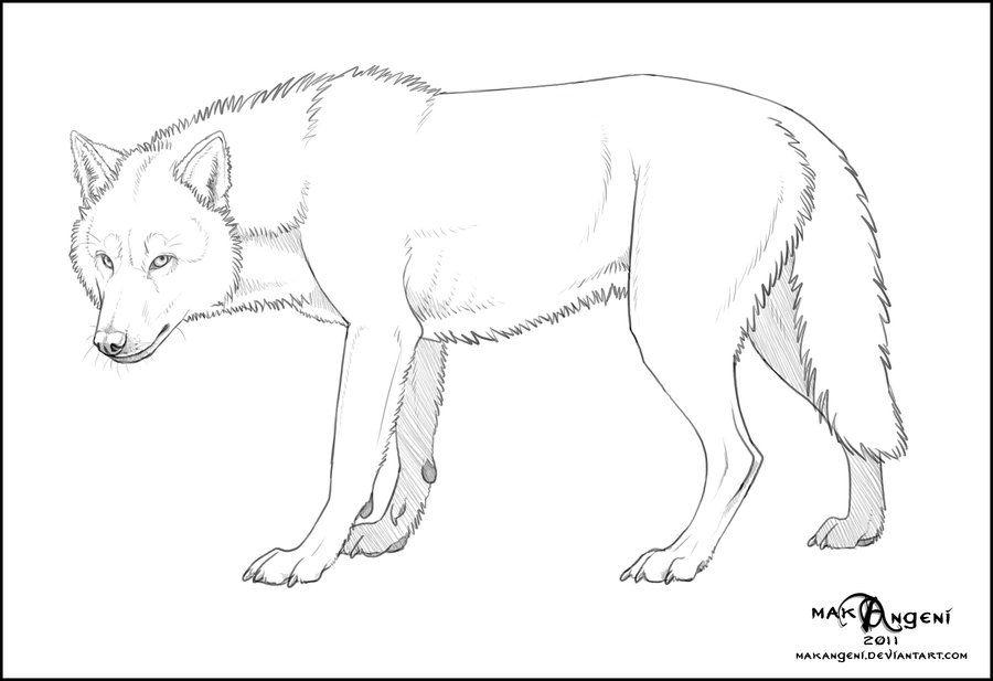 free lineart wolf by makangeni deviantart com on deviantart