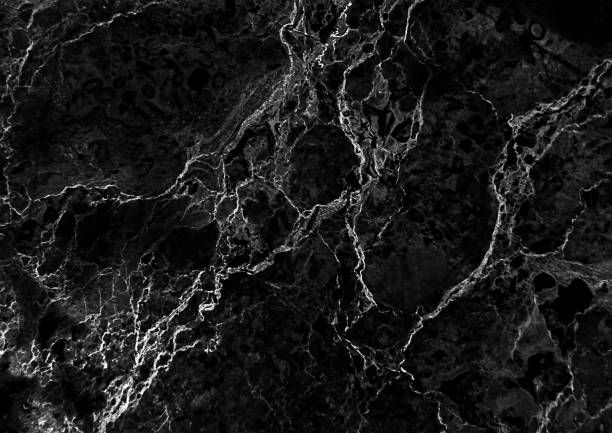 black marble pattern with white veins useful as background ...