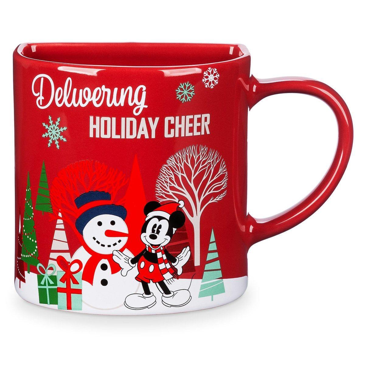 Mickey Mouse Holiday Cookie Holder Mug Disney Mugs Disney Store Mugs Christmas Mugs