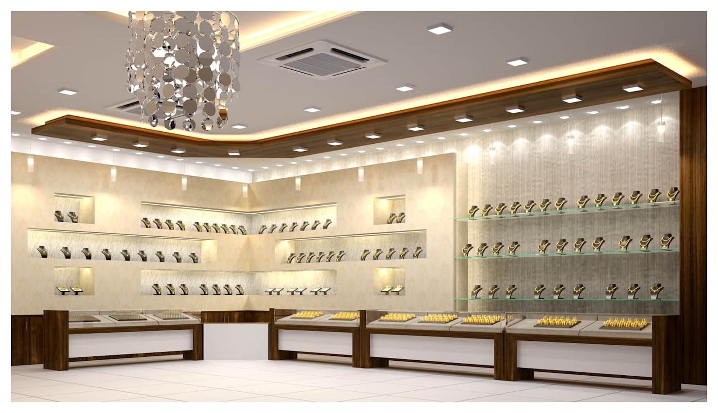 Jewelry Shop Interior Modern Houses By Anss Crafters Modern Homify In 2020 Showroom Interior Design Store Design Interior Modern Interior