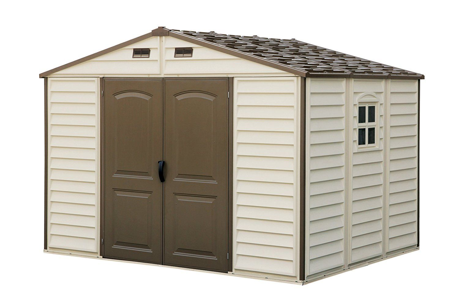 Woodside 10 X 8 Vinyl Storage Shed With Foundation And Three Fixed