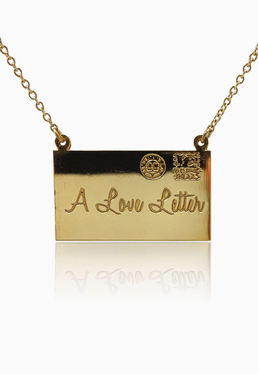 Leila Love Letter Necklace A Fun And Glittery Example Of Leila