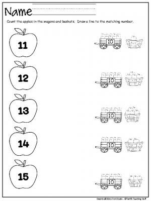 Count And Match The Apples 10 To 15 Made By Teachers Preschool Math Worksheets Preschool Worksheets Preschool Counting Worksheets Free printable worksheets numbers 10