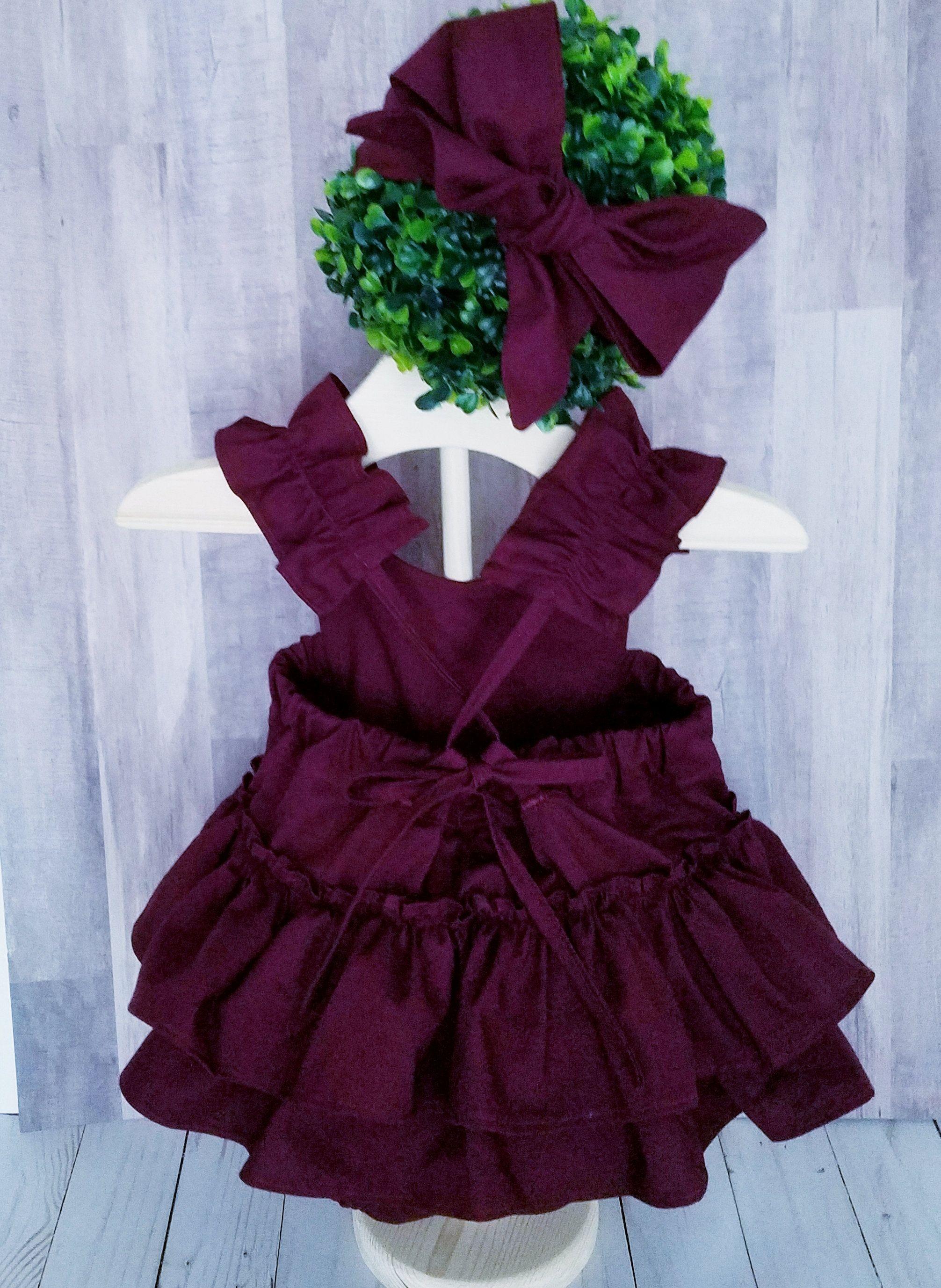 d48532930d3 Baby Girls Romper-Burgundy Romper-boho baby romper-Shabby chic Romper-Dark  Plum-Smash cake outfit-1st Birthday Romper-Baby Girls Fall Romper by ...