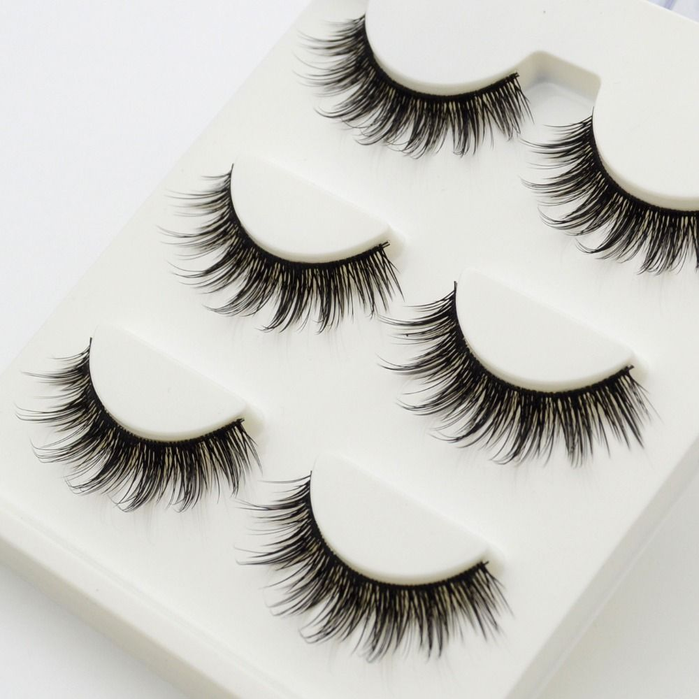 3 paare/satz 3D Falsche Wimpern Chaotisch Quer Dicken Natürliche gefälschte Wimpern Professionelle Make-Up Tipps Großaugen Lange Falsche Auge wimpern