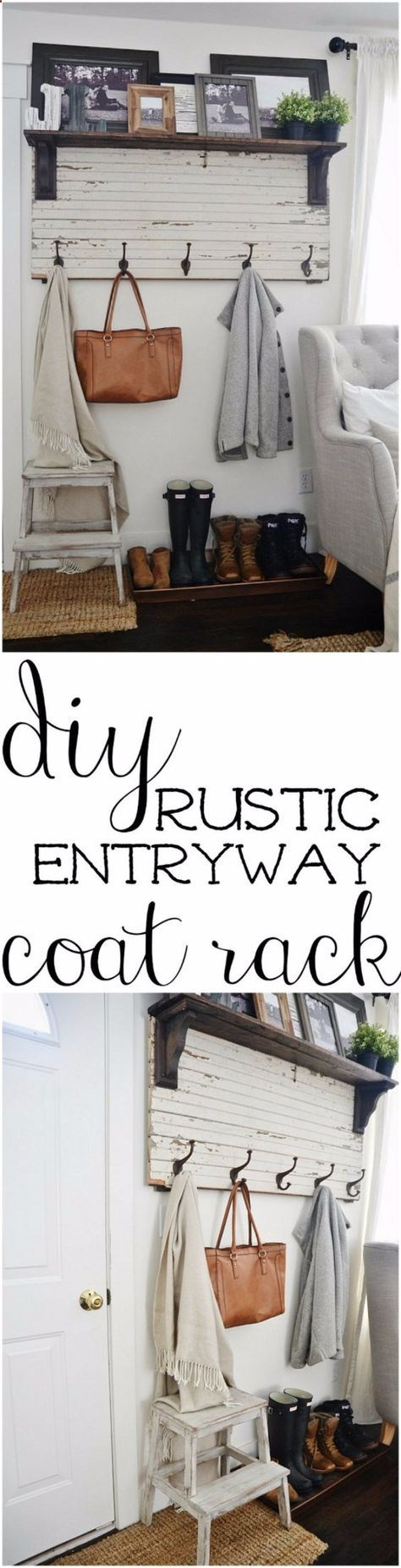 Diy ideas for your entry diy rustic entryway coat rack cool and