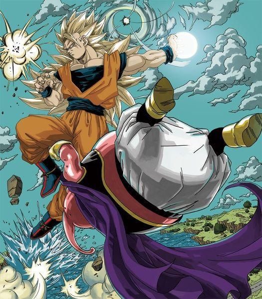 Majin Buu Wallpaper: Ssj3 Goku Vs Majin Buu Epic