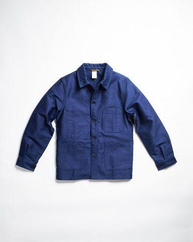Le Laboureur Moleskin Work Jacket Navy Jackets Work