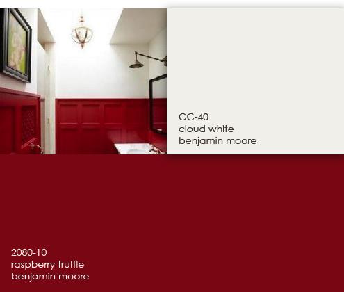 Benjamin Moore 2080-10 Raspberry truffle. Front door??