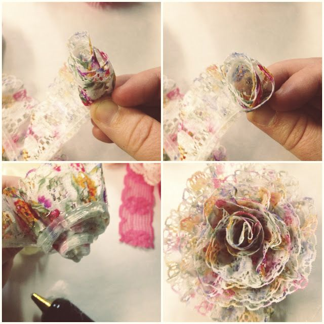 Pretty DIY Lace Flowers