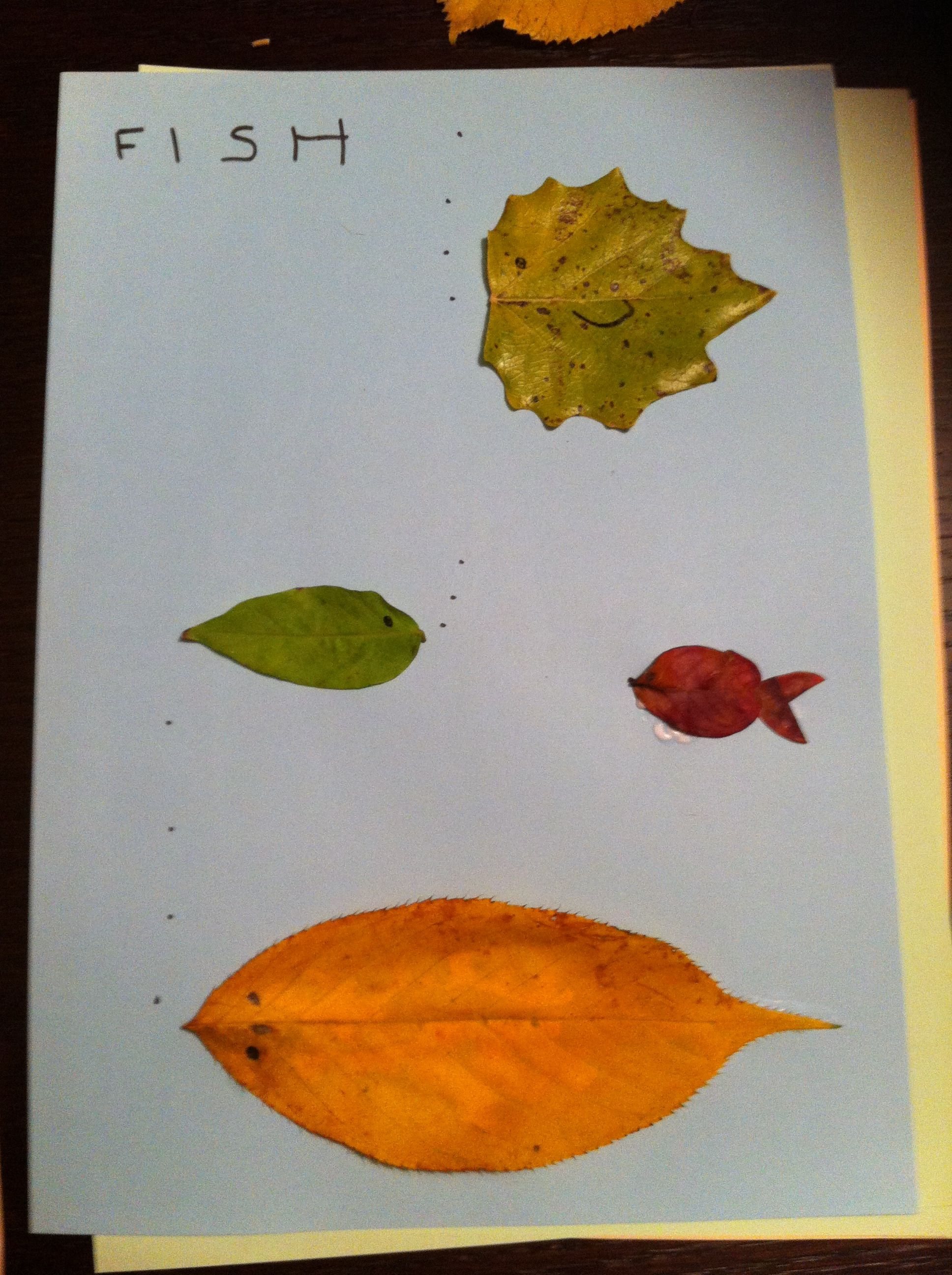 Fishing leaves
