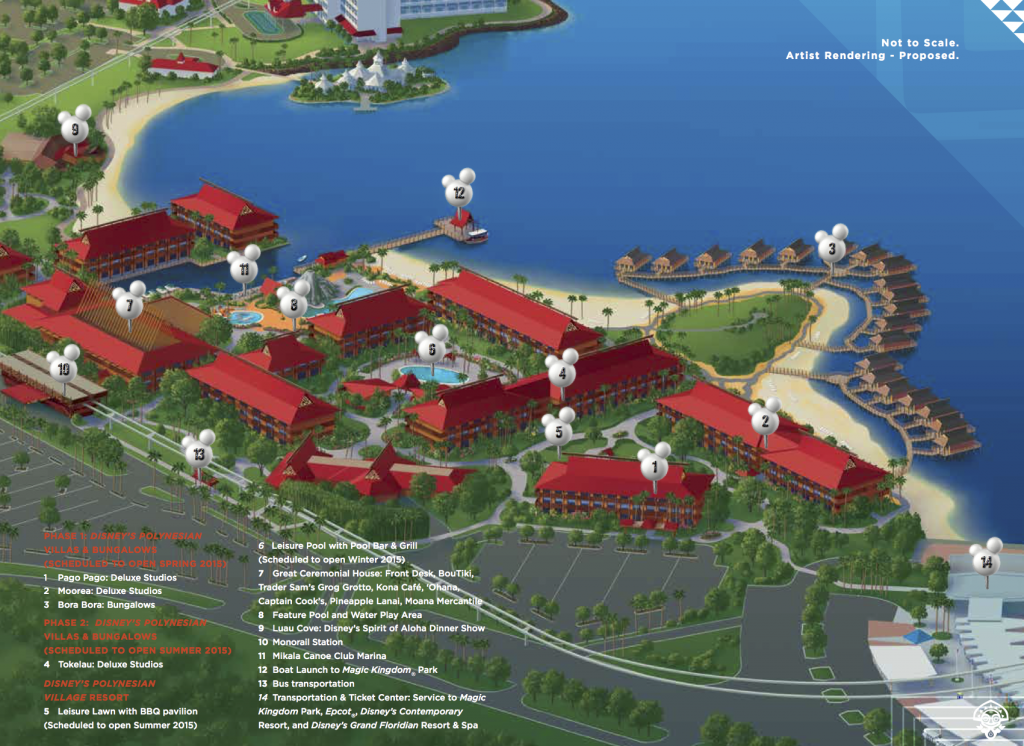 Map Of Disney S Polynesian Resort 2017 Disney Land And