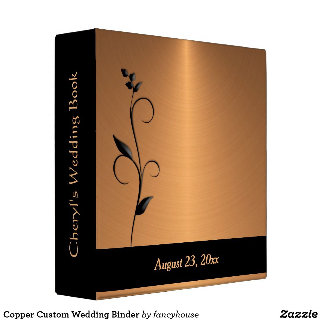 Copper Custom Wedding Binder