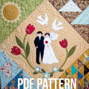 Bridal Couple Quilt Block Pattern