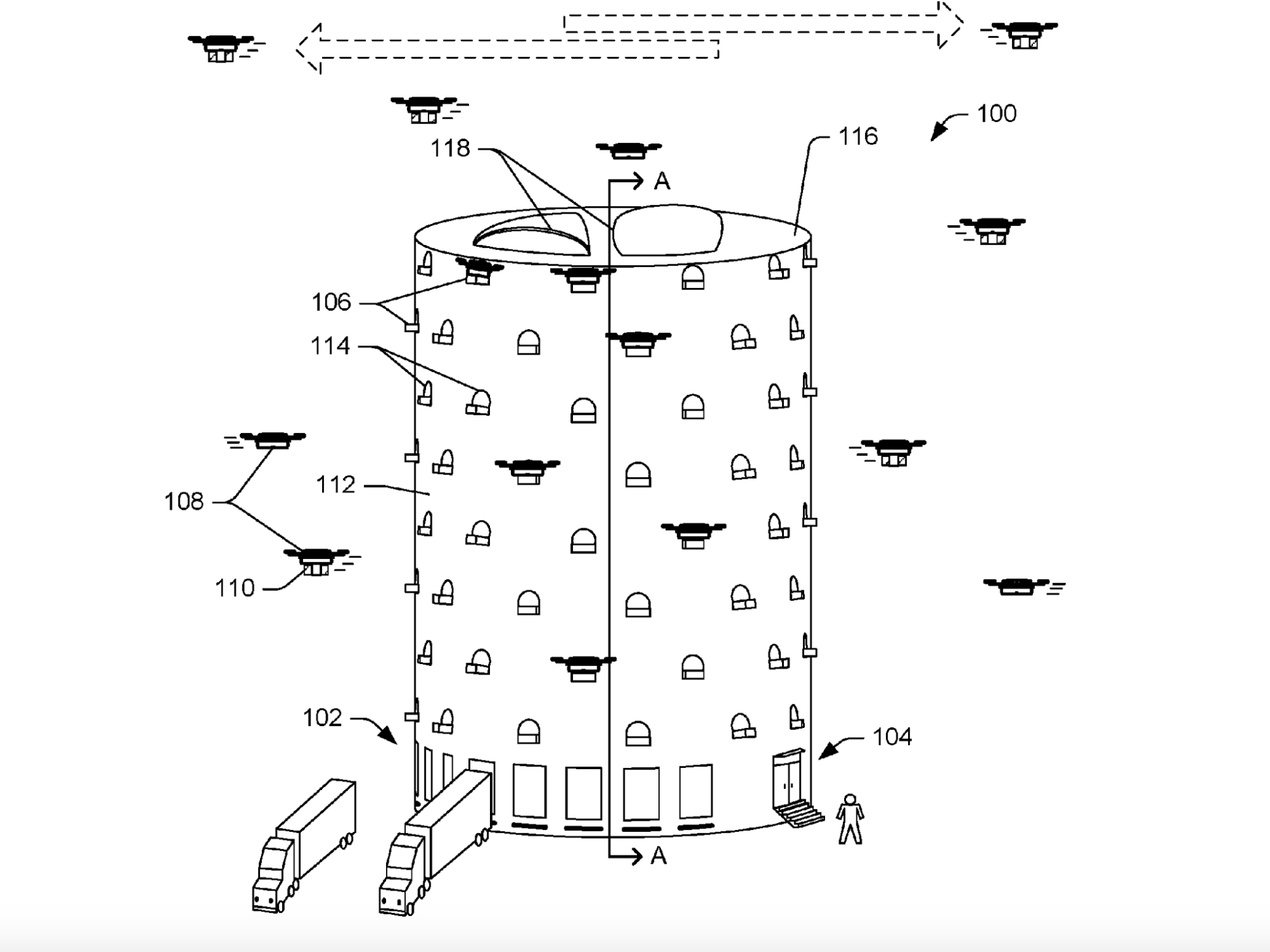 amazon has applied to patent a beehive like drone tower jackamazon has applied to patent a beehive like drone tower (amzn)