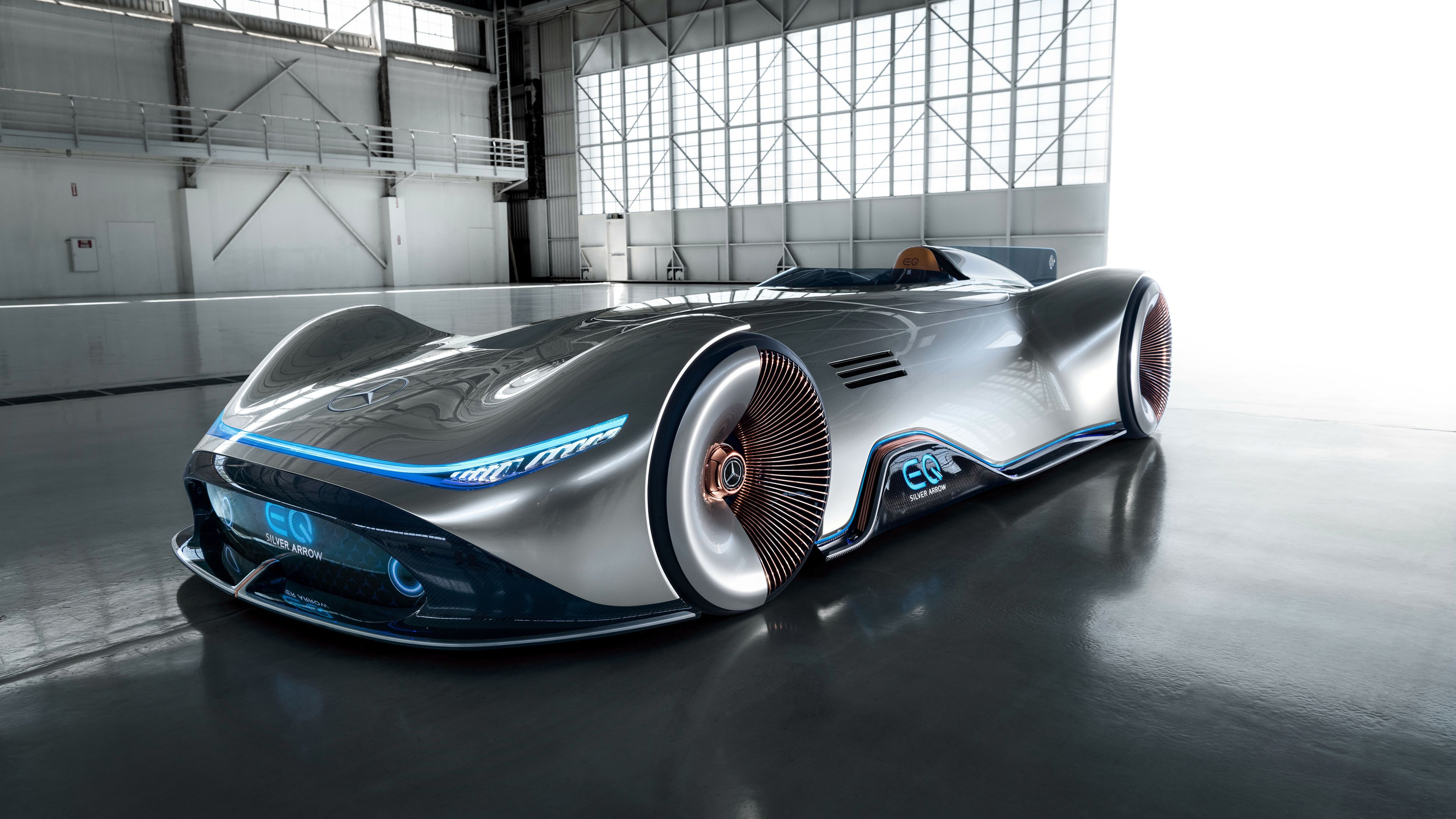 Wallpaper 4k Mercedes Benz Vision Eq Silver Arrow 2018 2018 Cars
