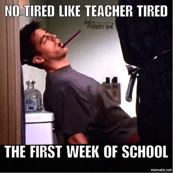 When You Start The Year As You Mean To Go On Teacher Memes Funny School Memes Teacher Memes