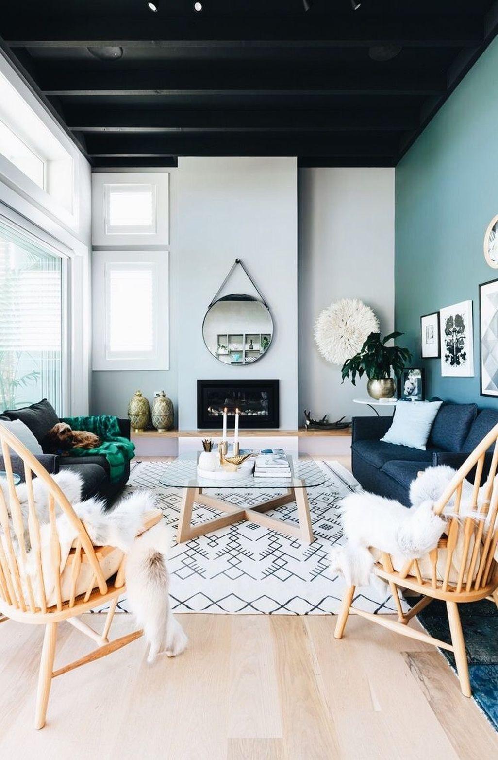 Awesome 46 Extraordinary Black Living Room Designs