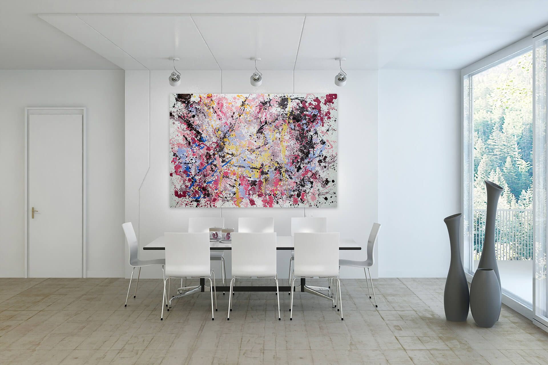 Öl Gemälde Infinite Joy 180x120cm Gemälde Grüne Gemälde Moderne Gemälde