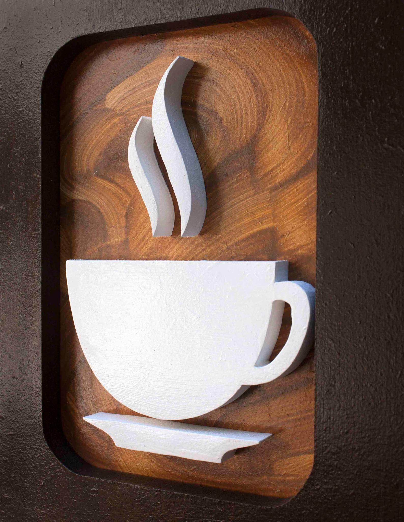 Quadros Decorativo Cozinha Caf Mdf Trio 30x30cm