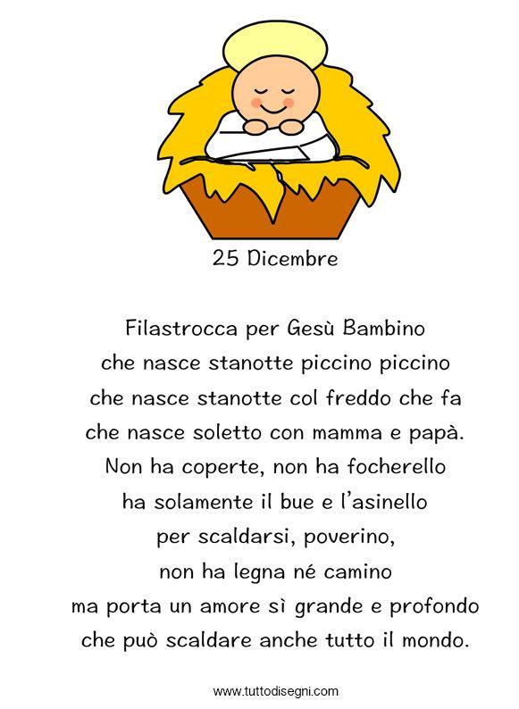 Poesie Di Natale Per Bambini Piccoli Corte.Poesia Di Natale Christmas Natale Bambini Di Natale E