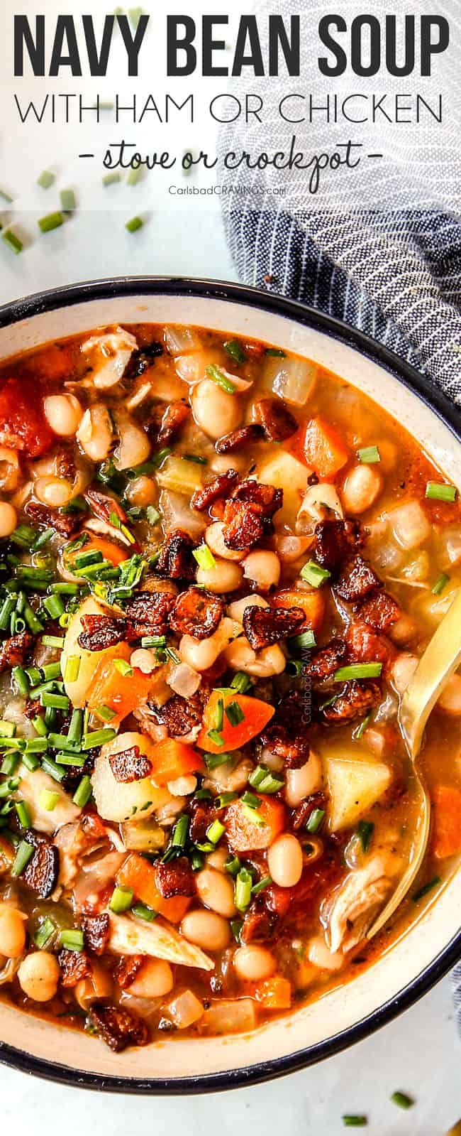 This Navy Bean Soup Recipe Is Savory Smoky Hearty Comforting And Can Be Made With Leftover