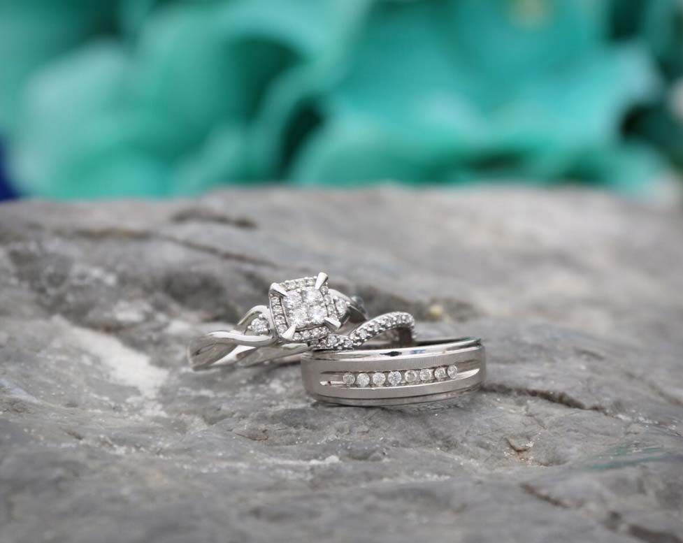 Fantastic album shot of the wedding rings Florida Beach Wedding