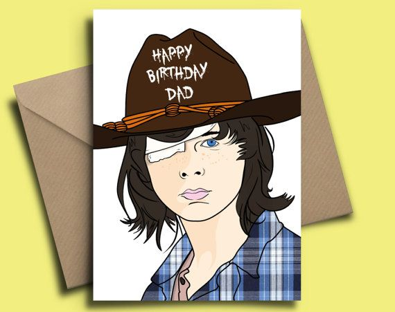 The Walking Dead Carl Grimes Personalised Birthday Card Pinterest