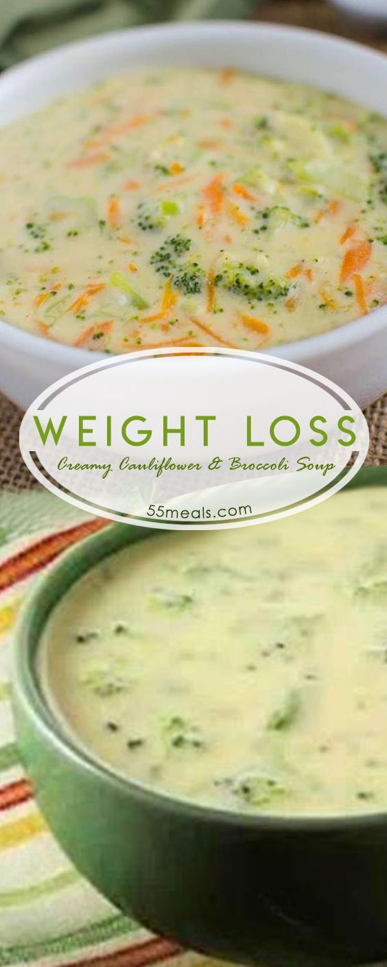 Best Weight Loss Creamy Cauliflower and Broccoli Soup (Weight Watchers) #cauliflower #broccoli #weight_loss #weight_watchers #weightwatchers #soup #weightloss