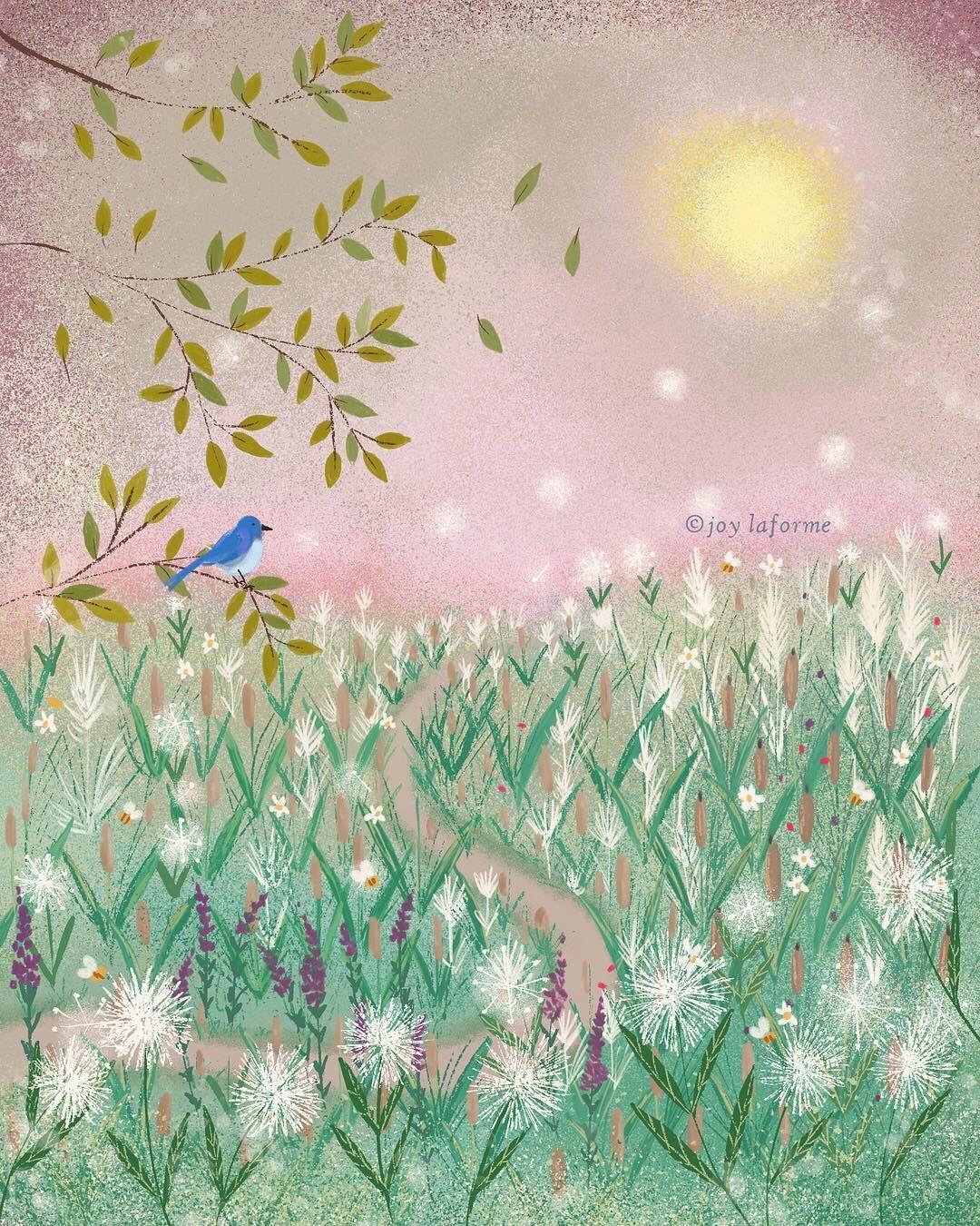 Wild u free folk art by joy laforme folk artist and illustrator