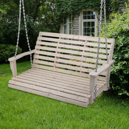 patio deck garden swing chair porch bench lounger swing with hanging rh pinterest com