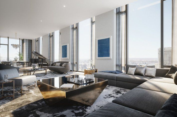 property of the week downtown manhattan penthouse dream board rh pinterest com