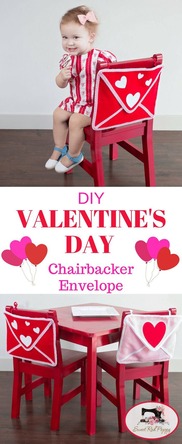 Valentineu0027s Day Envelope Chair Backer Tutorial American