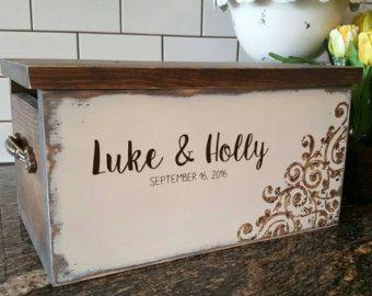 Wedding Card Box, Card Box for Wedding, Rustic Card Box, Rustic ...