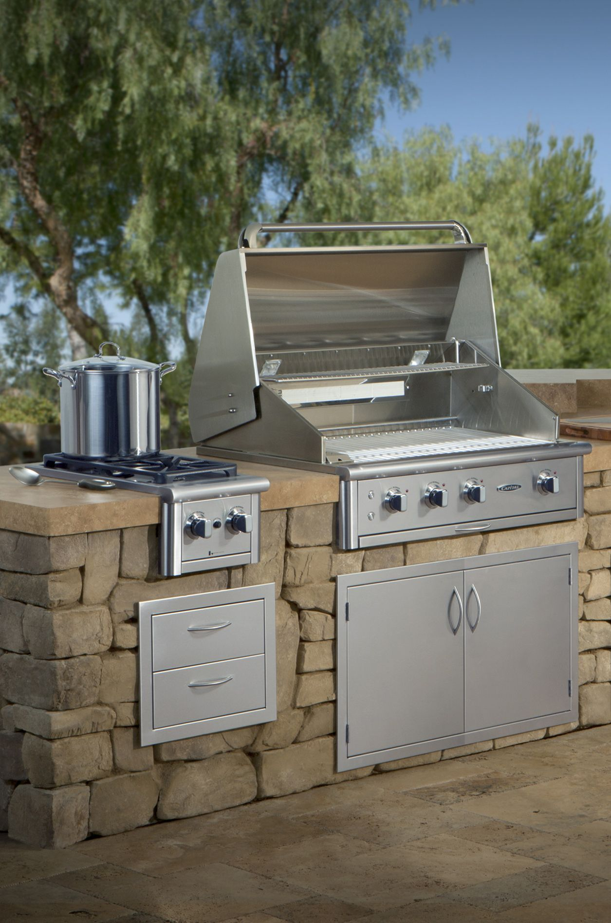 Precision Series 36 Built In Grill Built In Grill Grilling Outdoor Grill Accessories